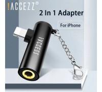 Адаптер 2x Lightning + AUX 3.5