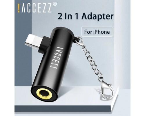 Адаптер 2xLightning + AUX 3.5