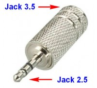 Переходник Micro-jack 2.5 ‒ AUX 3.5, AUX, stereo