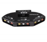 Переключатель AV-сигнала на 3 порта RCA