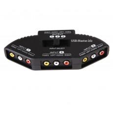 Переключатель AV-сигнала 3RCA на 3x 3RCA