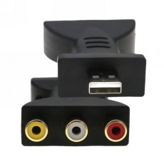 Переходник USB 2.0 на 3RCA тюльпаны