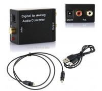 Аудио переходник из Цифровой, Коаксиальный, Оптический Toslink на R/L Стерео аудио Digitall to Analog 3RCA