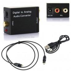 Стерео аудио Оптический Digitall to Analog 3RCA