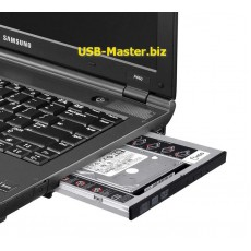 Карман для установки HDD/SSD SATA в отсек DVD 9.5/12.7mm