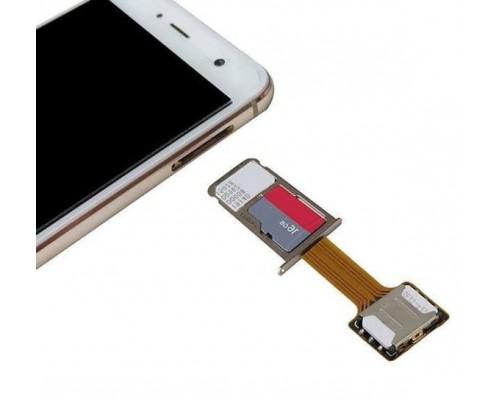 Адаптер на 2 сим карты + карта памяти (2 Sim + SD Card)