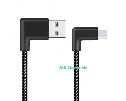 Кабель USB ‒ Type-C, OTG, L-образный, угловой90 градусов