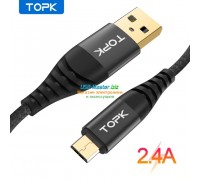 "Кабель USB ‒ Micro-usb, 2.4A, ""TOPK"""