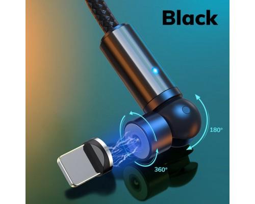 Магнитный кабель вращающийся на 540° Micro-USB, Type-C, Lightning