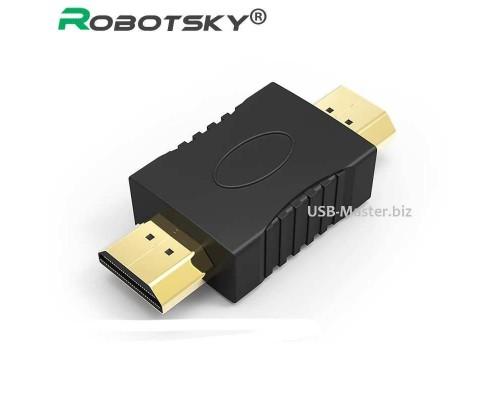 Переходник, соединитель HDMI (штекер, male) ‒ HDMI (штекер, male)