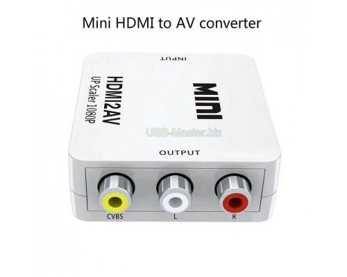 Конвертер HDMI ‒ AV (3RCA Тюльпаны)