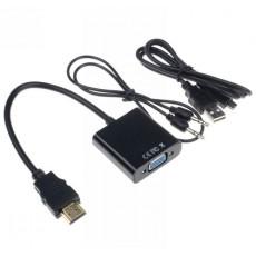 Конвертер HDMI ‒ VGA + аудио-выход