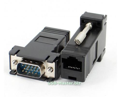 Переходник VGA (штекер) - RJ45 LAN (гнездо)