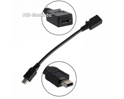 Mini-USB Male ‒ Micro-USB Female, 5Pin OTG