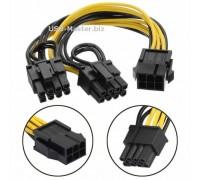 Кабель питания PCI Express 6 Pin на 2х 8 Pin (6+2)