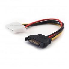 Кабель SATA 15 Pin Male - 2 Molex 4 Pin Female