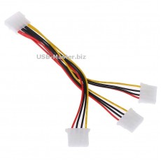 Y-сплиттер 1 Molex 4 Pin на 3 Molex 4 Pin
