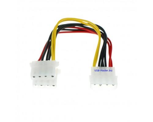 Кабель, Y-сплиттер Molex 4 Pin Male - 2 Molex 4 Pin Female