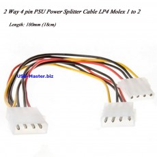 Y-сплиттер Molex 4 Pin Female - 2 Molex 4 Pin Male