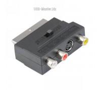 Переходник RGB Scart - Композитный RCA+S-Video