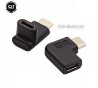 Переходник Угловой, 90 градусов USB Type-C 3.1 (штекер-гнездо)