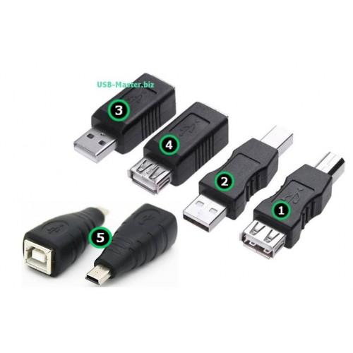 Переходники USB, Mini-usb ‒ Type-B для принтера, МФУ