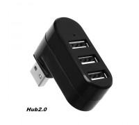 Usb-Хаб 3 порта USB 2.0 поворотный 180°
